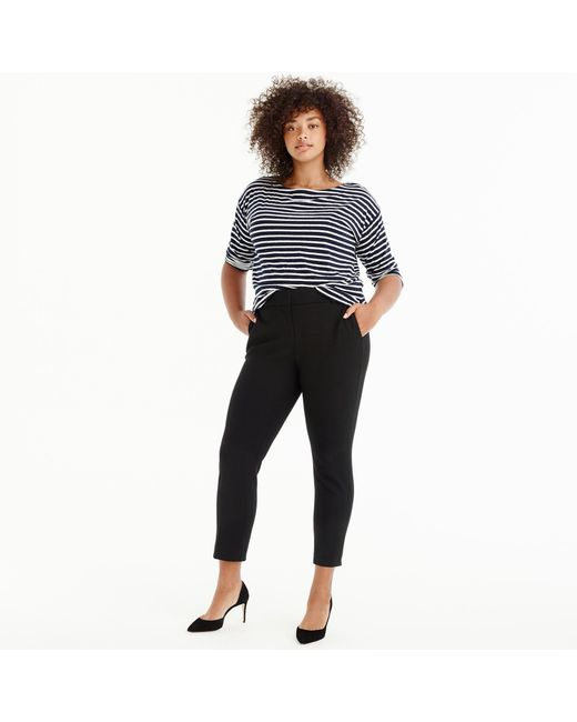 J.Crew - Black Tall Cameron Slim Crop Pant In Four-season Stretch - Lyst