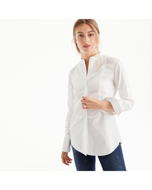 J.Crew - White Thomas Mason Mandarin-collar Tuxedo Shirt - Lyst