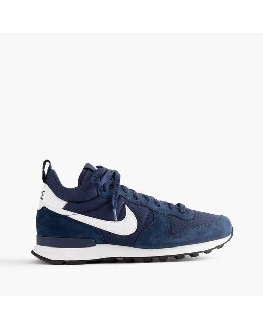 J.Crew   Blue Nike Internationalist Mid Sneakers In Navy for Men   Lyst