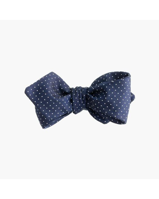 J.Crew   Blue English Silk Bow Tie In Pindot for Men   Lyst