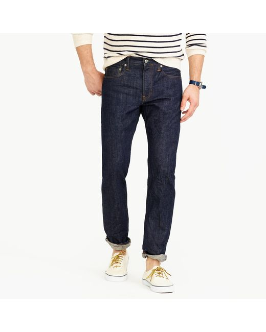J.Crew - Blue 770 Straight Selvedge Jean In Fairfax Wash for Men - Lyst