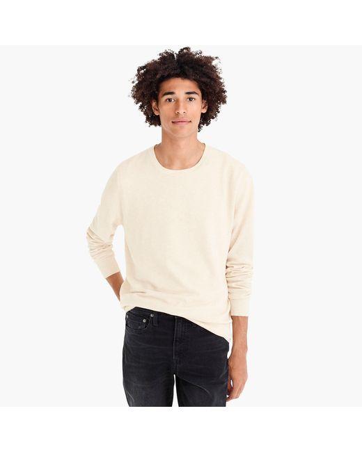 J.Crew - Natural Cotton-cashmere Piqué Crewneck Sweater for Men - Lyst