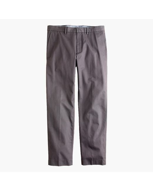 J.Crew   Gray Bowery Classic-fit Pant In Cotton Twill for Men   Lyst