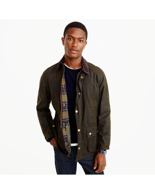 J.Crew | Green Barbour Sylkoil Ashby Jacket for Men | Lyst
