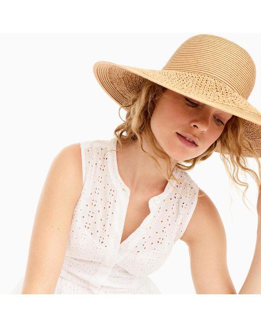 J.Crew | Natural Textured Summer Straw Hat | Lyst