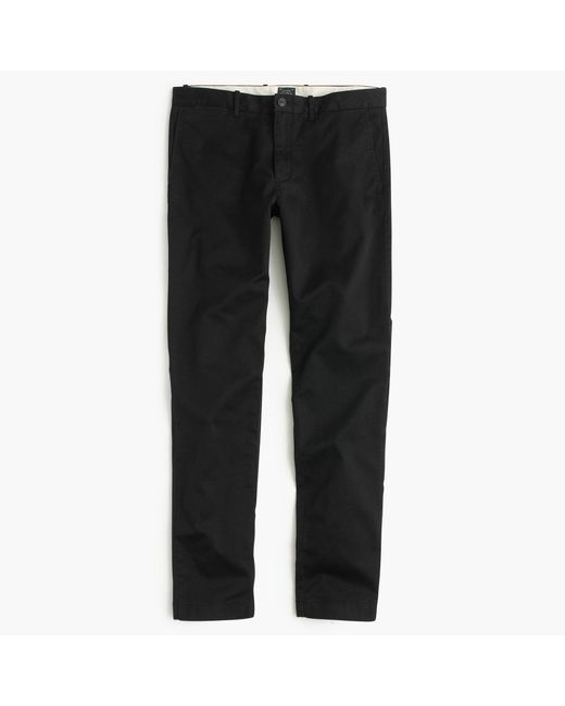 J.Crew | Black Stretch Chino Pant In 484 Slim Fit for Men | Lyst