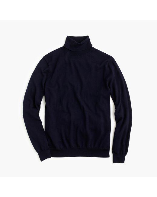 J.Crew | Blue Merino Wool Turtleneck Sweater for Men | Lyst