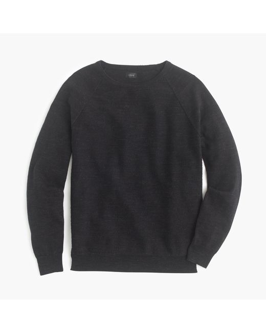 J.Crew - Black Rugged Cotton Sweater for Men - Lyst