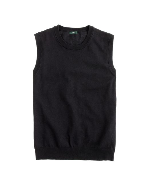 J.Crew | Black Cotton Jackie Shell | Lyst