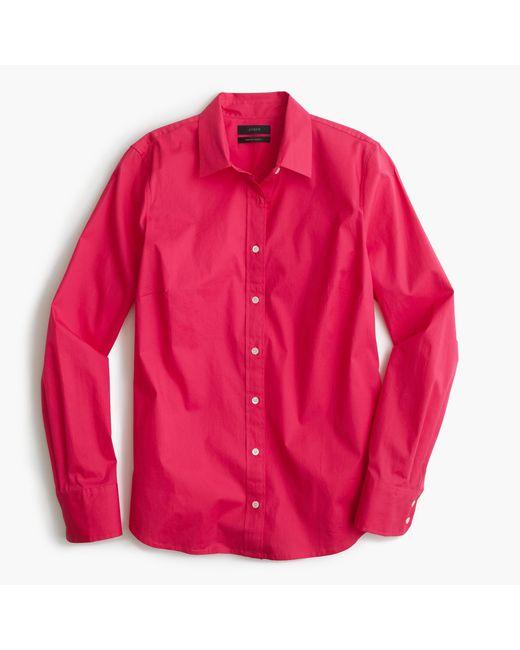 J.Crew | Red Petite Stretch Perfect Shirt | Lyst