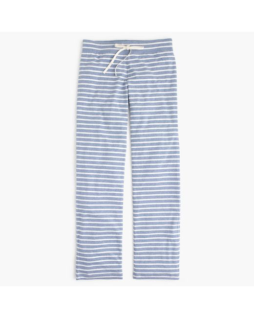 J.Crew | White Dreamy Cotton Pant In Stripe | Lyst