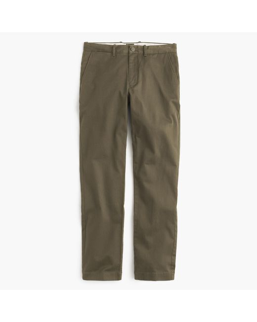 J.Crew - Green Stretch Chino In 1040 Athletic Fit for Men - Lyst