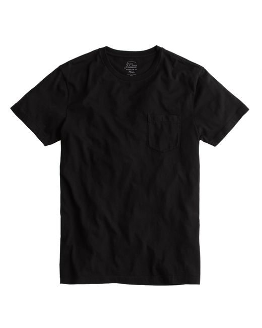 J.Crew | Black Slim Broken-in Pocket T-shirt for Men | Lyst