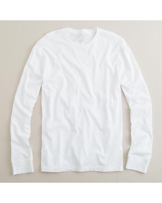 J.Crew | White Slim-Fit Long-Sleeved Cotton T-Shirt for Men | Lyst
