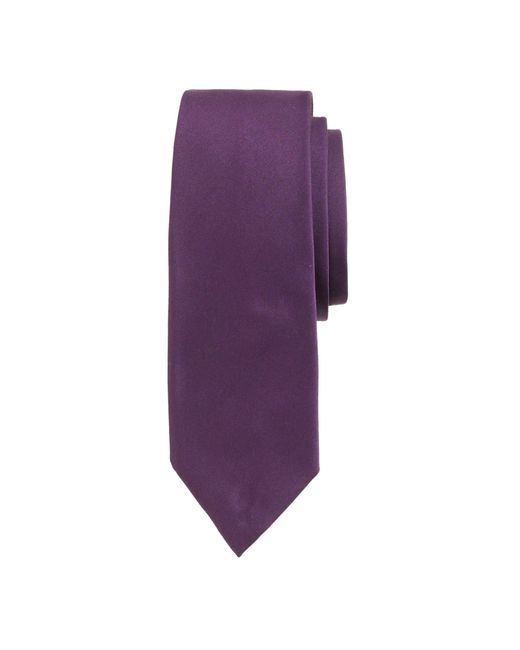 J.Crew | Purple English Satin Tie for Men | Lyst