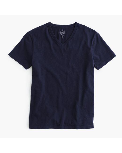 J.Crew - Blue Tall Mercantile Broken-in V-neck T-shirt for Men - Lyst