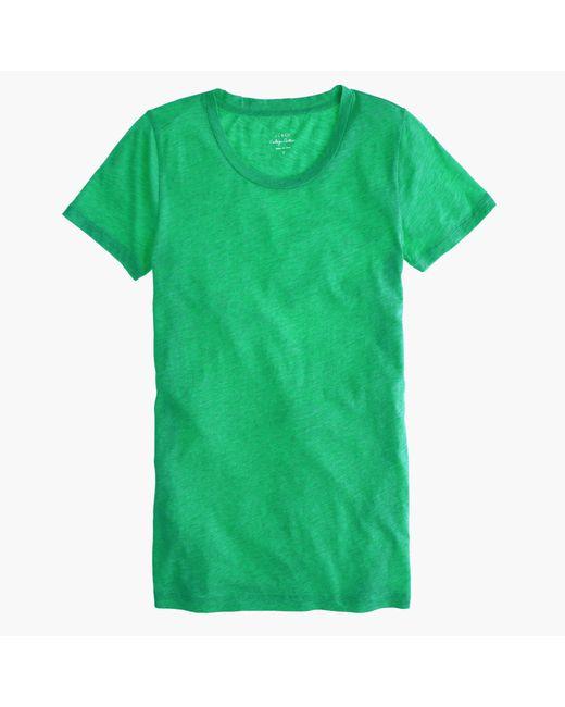 J.Crew | Green Vintage Cotton T-shirt | Lyst