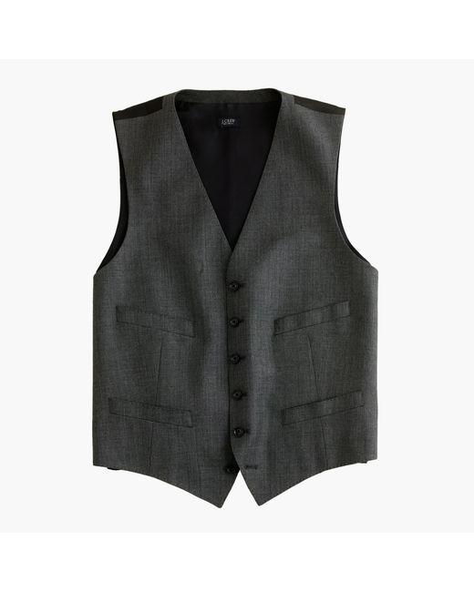 J.Crew | Gray Ludlow Suit Vest In Italian Worsted Wool for Men | Lyst