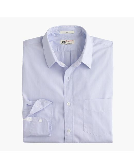 J.Crew | White Slim Washed Thomas Mason Shirt In Stripe for Men | Lyst
