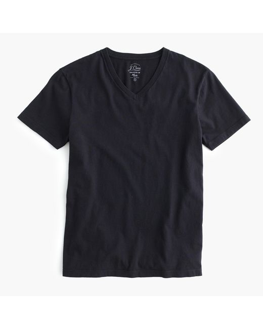 J.Crew - Black Broken-in V-neck T-shirt for Men - Lyst