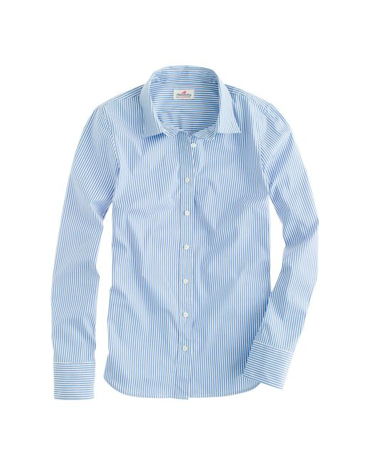 J.Crew | Blue Stretch Perfect Shirt In Classic Stripe | Lyst