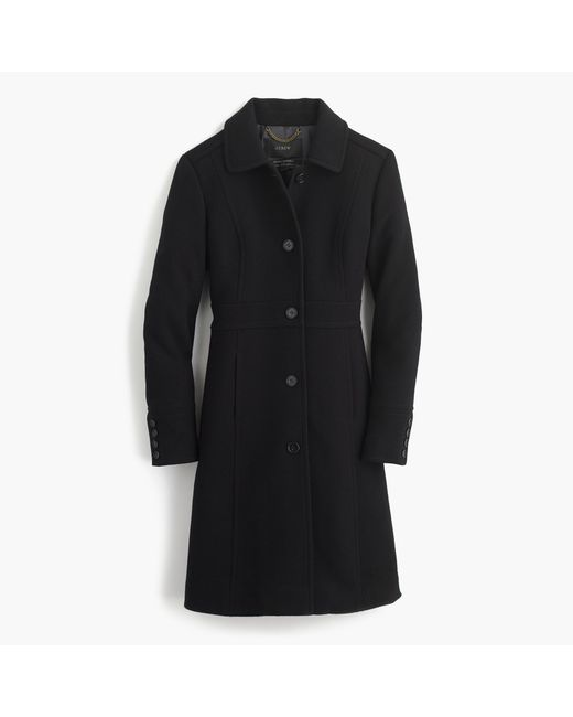 J.Crew | Black Double-cloth Lady Day Coat With Thinsulate | Lyst