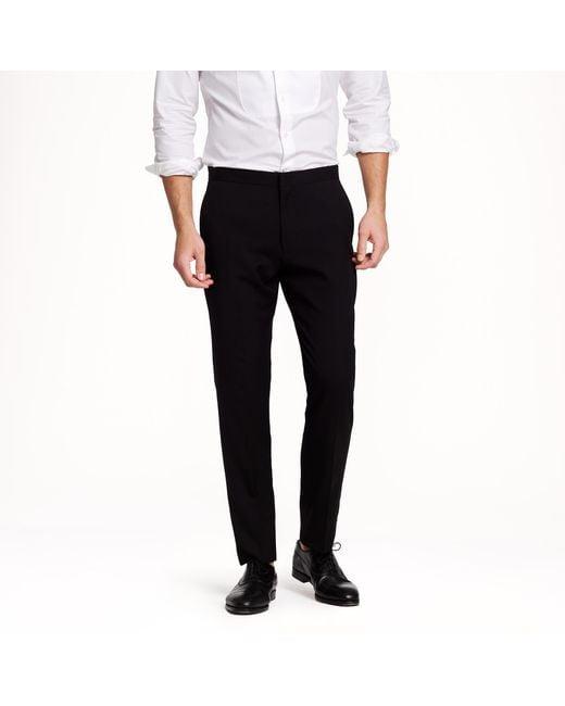 J.Crew | Black Ludlow Classic Tuxedo Pant In Italian Wool for Men | Lyst