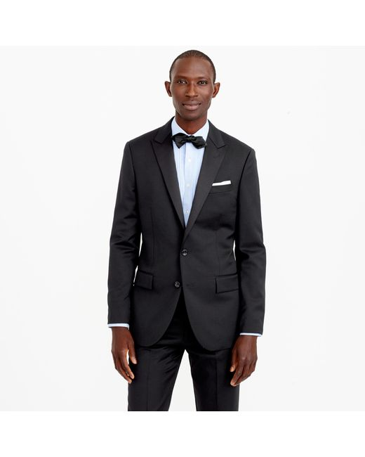 J.Crew | Black Ludlow Tuxedo Jacket In Italian Wool for Men | Lyst