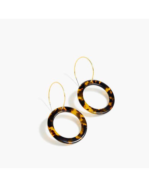 J.Crew - Multicolor Tortoise Double-hoop Earrings - Lyst