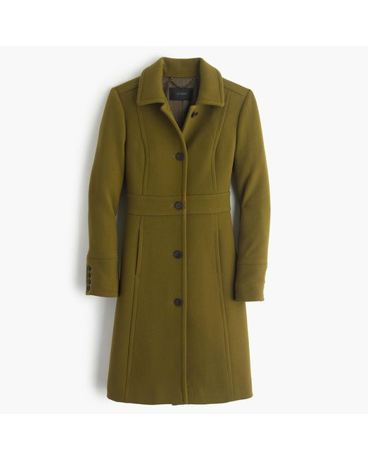 J.Crew | Green Double-cloth Lady Day Coat With Thinsulate | Lyst