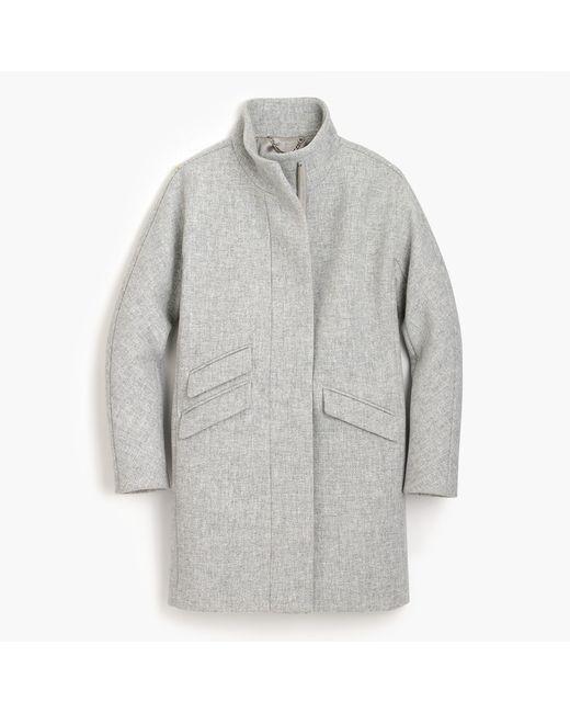 J.Crew | Gray Petite Cocoon Coat In Italian Stadium-cloth Wool for Men | Lyst