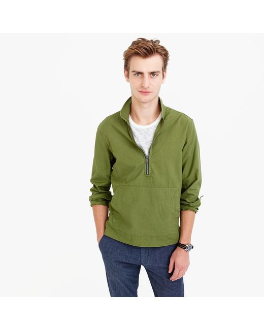 J.Crew | Green Wallace & Barnes Half-zip Pullover Shirt for Men | Lyst