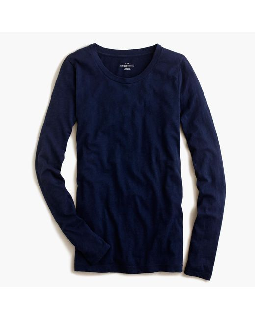 J.Crew | Blue Vintage Cotton Long-sleeve T-shirt | Lyst