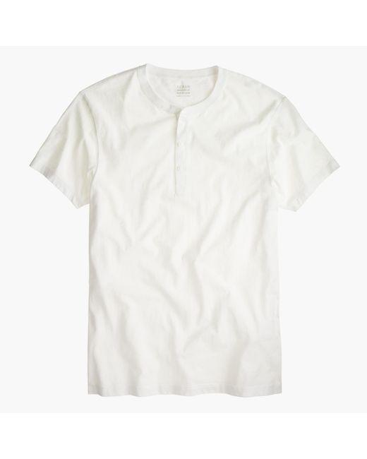 J.Crew   White Slim Broken-in Short-sleeve Henley for Men   Lyst