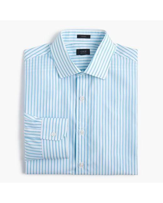 J.Crew   Crosby Shirt In Blue Stripe for Men   Lyst