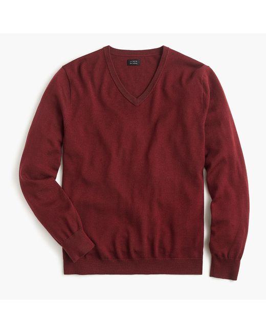 J.Crew - White Tall Merino Wool V-neck Sweater for Men - Lyst