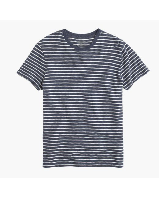 J.Crew | Blue Nautical-striped Heathered T-shirt for Men | Lyst
