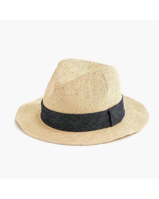 J.Crew - Natural Packable Panama Hat - Lyst