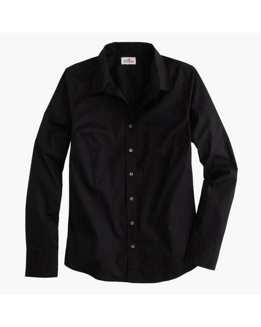 J.Crew | Black Stretch Perfect Shirt | Lyst