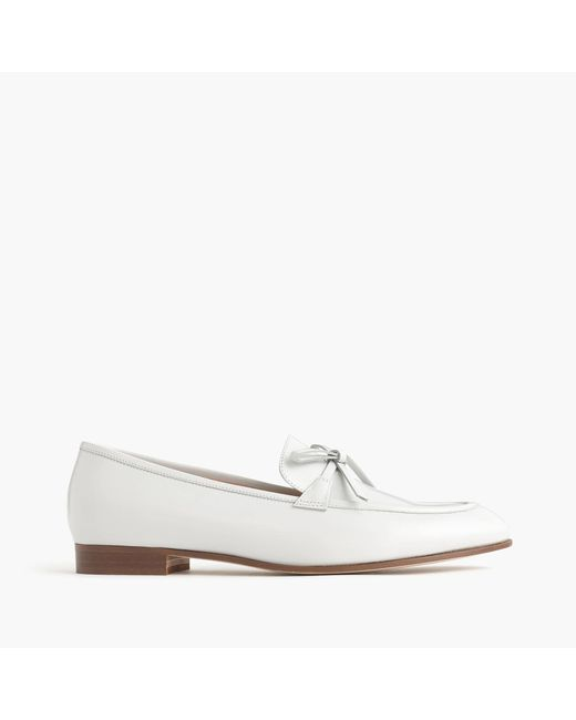 J.Crew | White Academy Loafers In Leather | Lyst