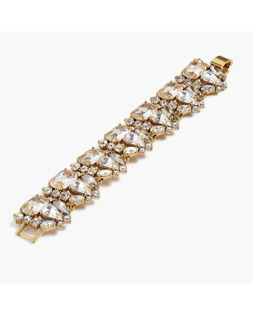 J.Crew - Metallic Glass Bead Bracelet - Lyst