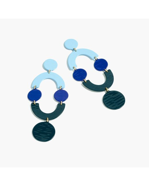 J.Crew | Blue Circlet Earrings | Lyst