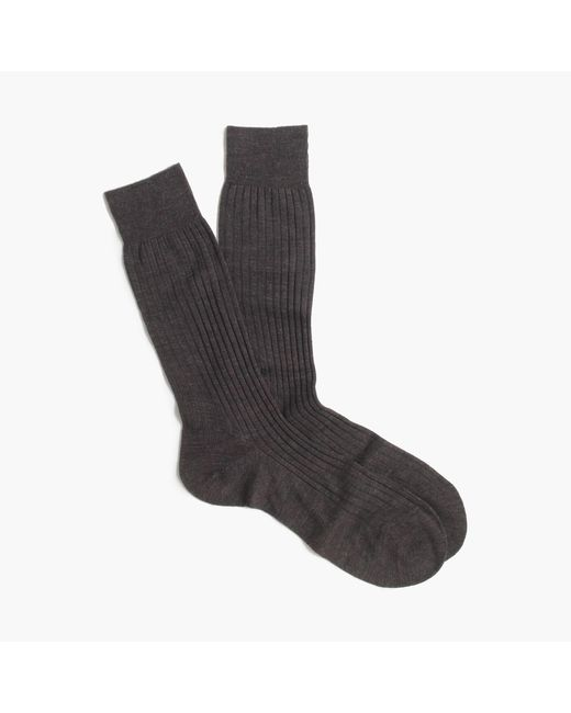 J.Crew | Gray Pantherella Merino Dress Socks for Men | Lyst