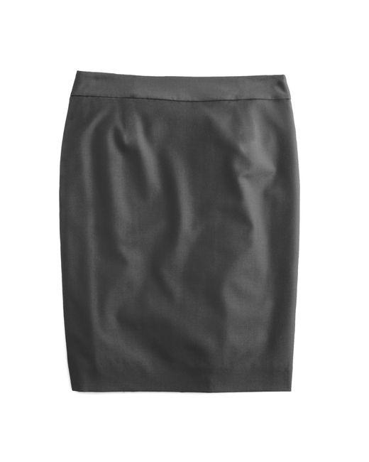 J.Crew | Natural Petite Pencil Skirt In Super 120s Wool | Lyst