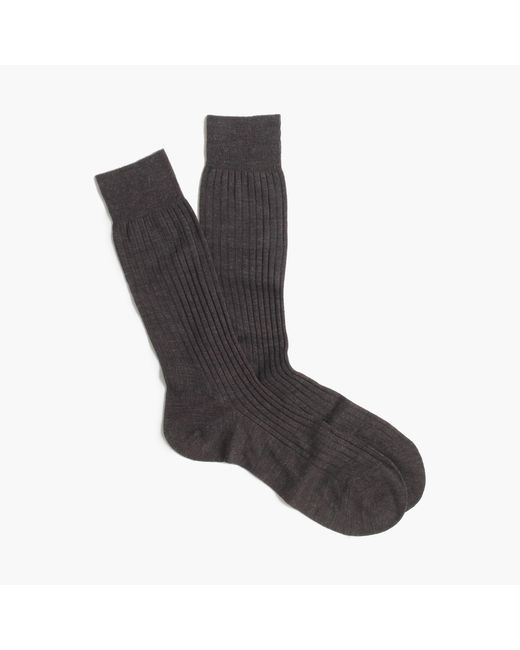 J.Crew | Gray Pantherella Merino Dress Socks for Men | Lyst