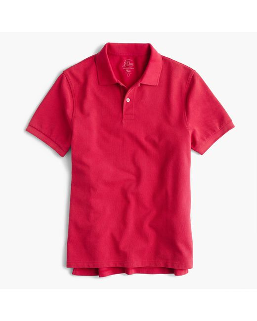 J.Crew   Red Slim Sun-faded Classic Polo Shirt for Men   Lyst