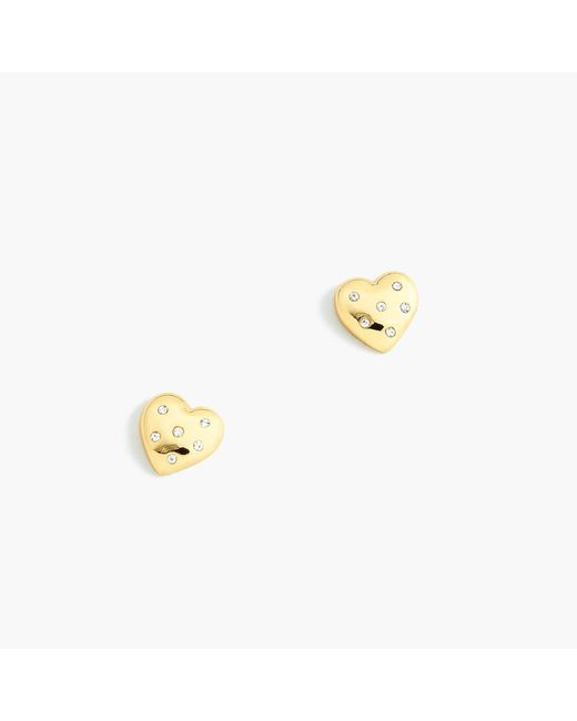 J.Crew - Metallic Alison Lou X Heart-shaped Earrings - Lyst