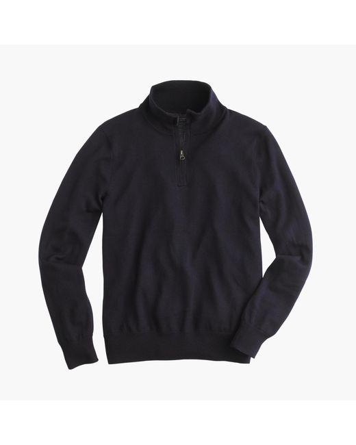 J.Crew | Blue Tall Merino Wool Half-zip Sweater for Men | Lyst