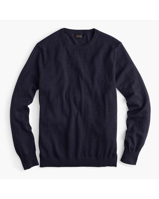 J.Crew   Blue Slim Italian Merino Wool Crewneck Sweater for Men   Lyst