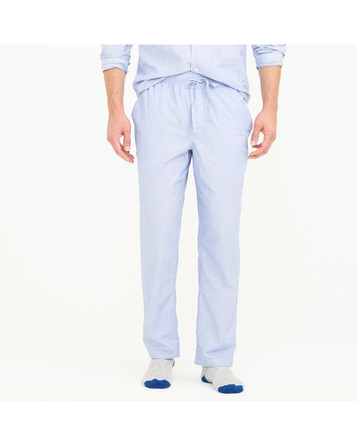 J.Crew | White End-on-end Cotton Pajama Pant for Men | Lyst